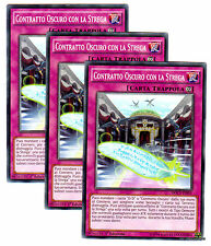 Set 3X CONTRATTO OSCURO CON LA STREGA Dark Contract Witch DOCS-IT095 ITA YUGIOH