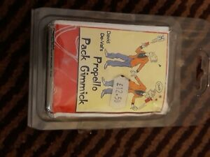 DAVID DE VAL'S  PROPELLO JUMPING PLAYING CARDS OR CARD BOX GIMMICK magic trick
