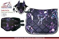 Equine Care Saddle Pad Ear Bonnet Brushing Boot Set Dressage Saddle Horse Saddle