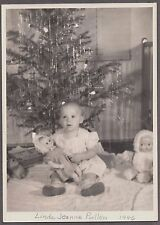 CHRISTMAS 1946 LINDA JEANNE PULLEN 7534 OLIVE PLACE LA MESA CALIFORNIA OLD PHOTO