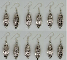 Handmade lot 6 PAIRS STERLING SILVER EARRINGS HOOK CLASSIC TOPS EQER