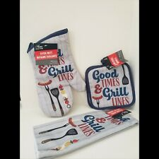 New listing New Oven Mitt Kitchen Towel Pot Holders 4 Piece Grill Home Decor Brand