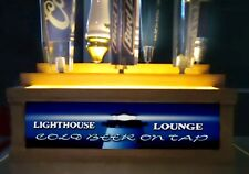 LIGHTHOUSE LOUNGE 7 BEER tap handle display 2 TIER/  BAR SIGN