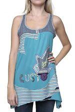 Gestreifte Lockre Sitzende Damenblusen,-Tops & -Shirts im Trägertops-Stil ohne Mehrstückpackung