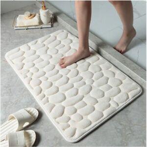 Cobblestone Memory Foam Bath Mat Non-Slip Rug for Tub, Basin, Shower Heavy Duty