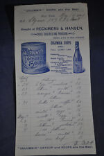1894 Columbia Catsup and Soups Are the Best - Letterhead