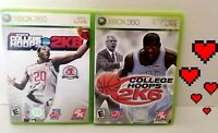 🕹️🔥2PACK 2K sports College Hoops 2K8 + college hoops 2k6 FAST SHIP Xbox 360 ⬇️
