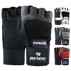 Blade® Weight Lifting Gloves Gym Fitness Workout Training Wrist Strap Leather