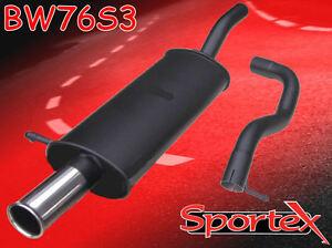Sportex VW Golf mk4 performance exhaust back box 1.8 GTi Turbo 1997-2004