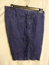 Black Brown 1826 Navy 100% Linen Chinos Casual Dress Shorts Men's 40