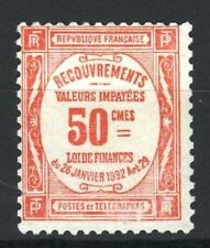 "FRANCE STAMP TIMBRE TAXE 47 "" 50c ROUGE "" NEUF xx TB , VALEUR: 1000€   P179"