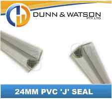 24mm PVC 'J' Weather Seal - 3000mm Length (Great for Trucks, Trailers, Canopies)
