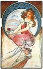 "Alphonse Mucha The Arts #2 CANVAS ART PRINT Poster 8"" X 12"""