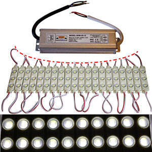 LED Module+Power Supply - Neutral White 7500K - 12V - 3x 5730 SMD Chip Injection