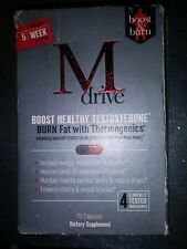 M Drive for Men - Testosterone Booster 75 Capsules Exp. 11/2021. FREE SHIPPING!!