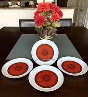 ESPANA-Flamenco BLOCK Biadasoa Spain Porcelain Salad Bread & Butter Set of 4