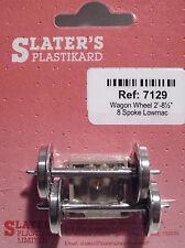 """Slaters 7129 1 x Pair 8 Spoke Lowmac 2' 81/2"""" Wheels & Brass Bearings 0 Gauge T4"""