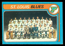1979 80 OPC  O PEE CHEE #257 ST LOUIS BLUES TEAM EX-NM UNMARKED HOCKEY CARD
