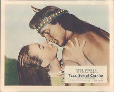 Taza Son Of Cochise original Lobby Card Rock Hudson barechested Barbara Rush