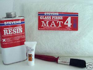 Stevens Fibre Glass Mat / Matting Repair Kit Free P&P