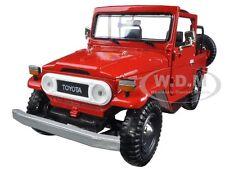 TOYOTA FJ40 FJ 40 CONVERTIBLE RED 1:24 DIECAST MODEL CAR BY MOTORMAX 79330