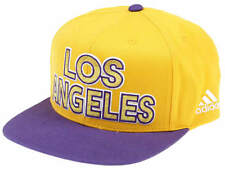 Adidas Flat Cap Nba Los Angeles Lakers Hat Snapback MSRP$25 New M67582 Yellow