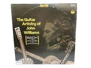 Vintage VINYL RECORD Guitar Artistry of John Williams Bach Suites 1 GM & 3 CM