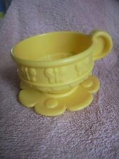 Fisher Price 77865 Musical Tea Set 2000 No Hole Yellow Butterfly Cup Saucr Donor