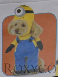 Halloween Despicable Me Minion Stuart Pet Dog Costume Size XLarge NWT