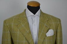 Raffaele Caruso Blazer size 40R Ermenegildo Zegna Cashmere Mustard Plaid Checks
