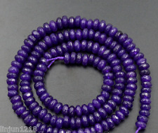 """Natural Faceted 2x4mm Ink blue sapphire Rondelle Loose beads 15 """""""