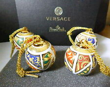 VERSACE Rosenthal BAROCK CHRISTMAS Ball Ornaments, Set of 4, New in Box