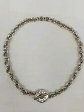 """Authentic Vintage Tiffany & Co. Classic Toggle 16"""" Sterling Silver Necklace"""