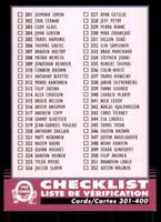 2020-21 UD O-Pee-Chee Retro Black Border 400 Checklist Blank Back Card /100 None