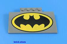 LEGO® ca. 4x8 x1 Batman bedruckt Dachstein dunkelgrau/grau mit 1x4 Halterung