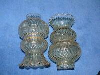 2 Ersatzgläser   Ersatzglas  für  Lampe Deckenlampe ca. 50 Jahre alt