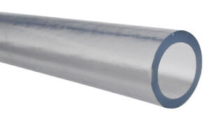 """PVC Tubing for Food/Beverage/Dairy - Inner Dia 7/8"""" Outer Dia 1-1/8"""" - 5 ft"""