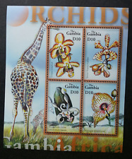 *FREE SHIP Gambia Orchids Of Africa 2006 Giraffe Flower Flora Plant (ms) MNH