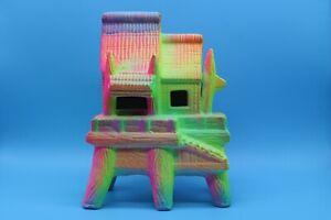 """Aquarium Ceramic Ornament Fluorescent Hut For Fish Tank 7.5"""" Tall - Brand New"""
