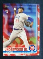 2019 Topps Series 1 Independence Day Parallel 315 Duane Underwood Jr Cubs RC /76