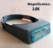 M00071a MOREZMORE 2X Head Wearing Jewelry Magnifier Magnifying Visor Band A60