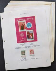 EDW1949SELL : INDONESIA Nice MNH collection of all Flowers sets & S/S. Cat $121.
