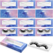 100 Pcs Empty Eyelashes Packaging Soft Paper Lash Box, 50 Empty Eyelash Boxes 50