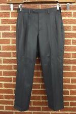 NEW Savane Dress Pants 34 W x 29 L Mens Navy Slacks Pleated Front Comfort NWT