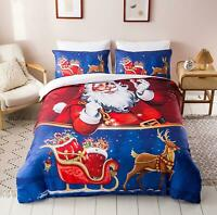 3D Sleigh Reindeer O428 Christmas Quilt Duvet Cover Xmas Bed Pillowcases Fay
