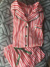 Christmas Pajamas for Men - Warm Mens Fleece Pajamas, Red/White, Medium Large
