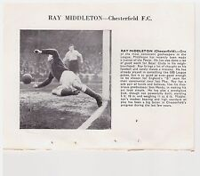 Player Pic from 1950-51 FOOTBALL Annual - Middleton - CHESTERFIELD + NEWCASTLE