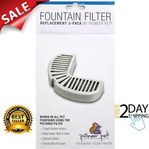 Pioneer Pet Replacement Filters for Ceramic & Stainless Steel Fountain 3 filters