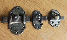 3 anciennes targette ou verrou serrure clé gâches pour placard  porte n7..