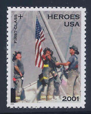 Heroes of 2001 - Scott #B2 Single Stamp MNH - Catalog $1